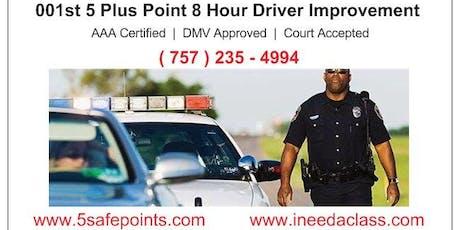 Saturday Virginia Beach Driver Improvement Classes tickets