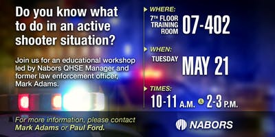 Active Shooter Workshop - May 21