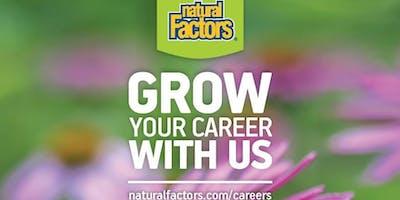 Natural Factors Job Fair - Apr 26 & 27