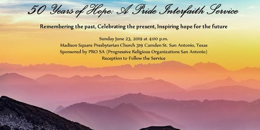 50 Years of Hope:  A Pride Interfaith Service
