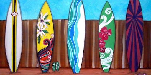 July 10th Surfboard Art Paint night