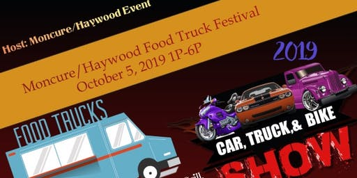Moncure/Haywood Food Truck Festival and Car Show 2019