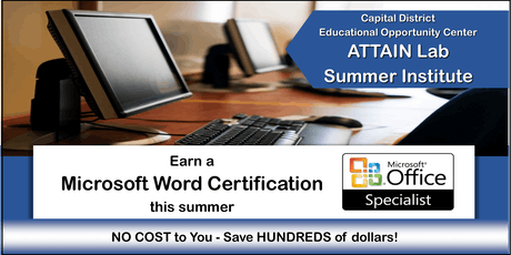 Microsoft Word Training - Summer Institute (July 8th—26th) Troy, NY tickets