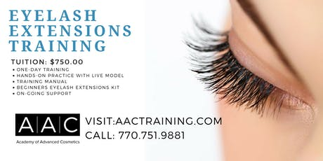 EYELASH EXTENSIONS CERTIFICATION TRAINING tickets