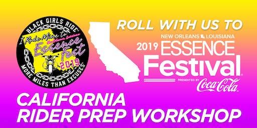 BGR to Essence Fest Rider Prep Workshop - California