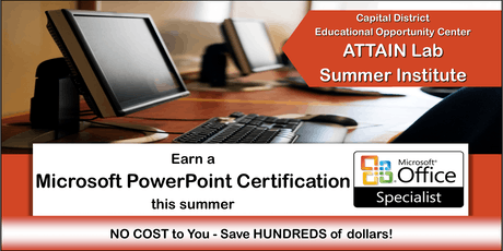 Microsoft PowerPoint Training - Summer Institute (August 5th—23rd) Troy, NY tickets