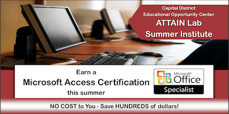Microsoft Access Training - Summer Institute (August 5th—23rd) Troy, NY tickets