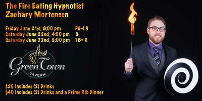 Zachary Mortensen The Fire Eating Hypnotist LIVE @Greentown Tavern