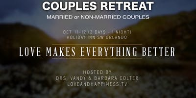 Love & Happiness Couples Retreat & Sweethearts Dinner. Hosted by Drs. Vandy & Barbara Colter