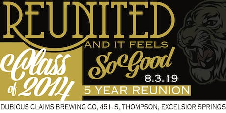 Excelsior Springs High School  Class Of 2014's 5-Year Reunion tickets