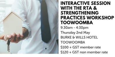 Interactive Session with the RTA & Strengthening Practices Workshop TOOWOOMBA