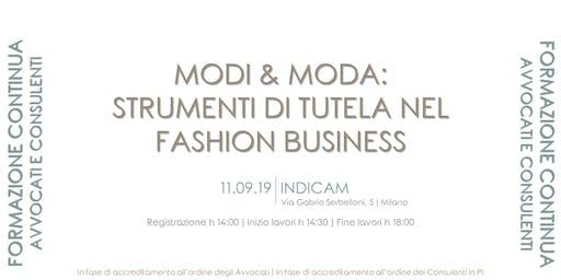 MODI & MODA: strumenti di tutela nel fashion business