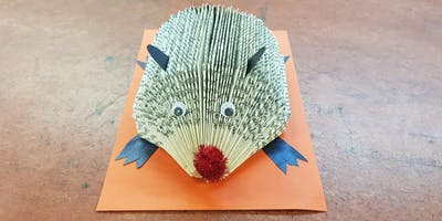 Children's upcycled crafting! Harry Hedgehog (Rishton) #halftermfun