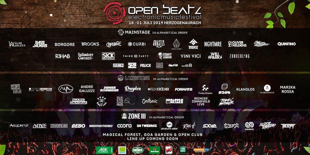 ee8aabd1f6a Open Beatz Festival 2019 Tickets, Do, 18.07.2019 um 10:00 Uhr | Eventbrite