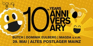 10 YEARS BOUQ. @ POSTLAGER MAINZ