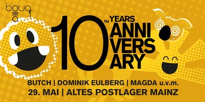 10 YEARS BOUQ. @ POSTLAGER MAINZ