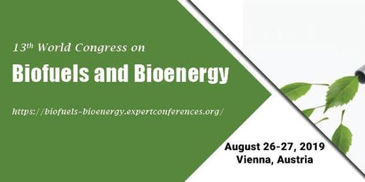 13th World Congress on Biofuels and Bioenergy