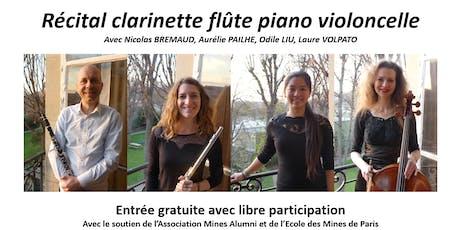 27 juin 2019 - Récital clarinette flûte piano violoncelle billets