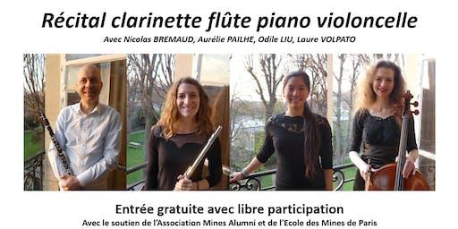 27 juin 2019 - Récital clarinette flûte piano violoncelle