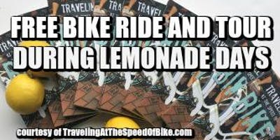 """""""Traveling at the Speed of Bike"""" Bike Ride and Tour"""