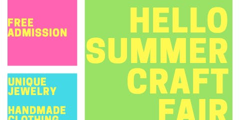 Hello Summer Craft Fair