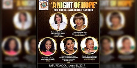 A NIGHT OF HOPE- 2ND ANNUAL AWARENESS BANQUET  tickets