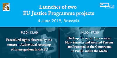 Launches of two EU Justice Programme projects