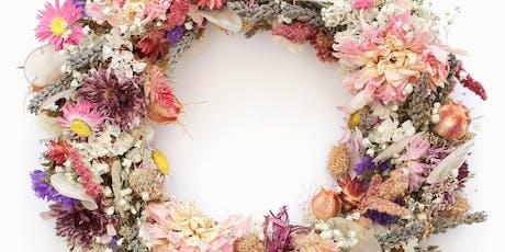 Dried Floral Wreath Workshop tickets