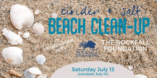 Cinder + Salt Beach Clean-up with The Rockfall Foundation At Hammonasset State Park - July 13