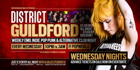 DISTRICT Guildford // Alt & Indie Club Night // Every Wednesday at Popworld tickets