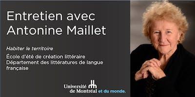 Entretien avec Antonine Maillet - Université de Montréal