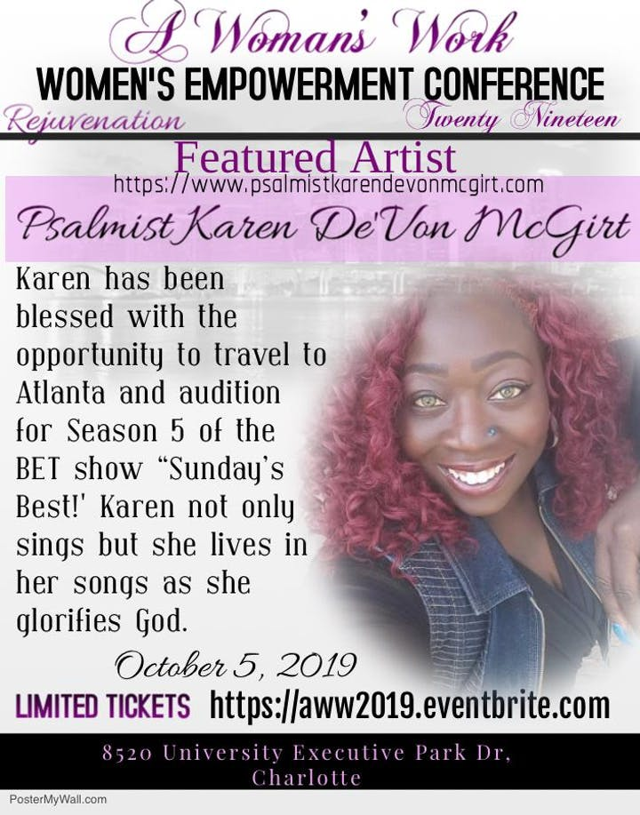 Sunday\'S Best Auditions 2020 A Woman's Work Women's Empowerment Conference Tickets, Sat, Oct 5