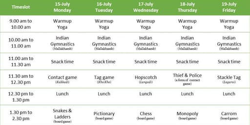 Sports and Games Summer Camp