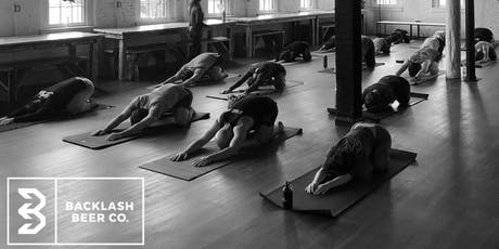 Namaste and Drink (Yoga and Beer at Backlash) tickets