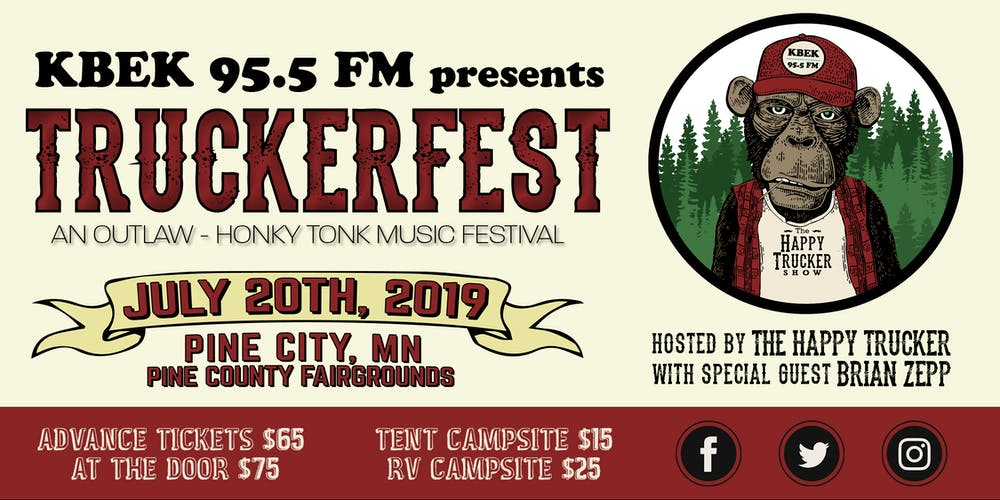 76b78f03 KBEK 95.5 FM presents TRUCKERFEST hosted by The Happy Trucker Tickets, Sat,  Jul 20, 2019 at 12:00 PM | Eventbrite