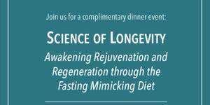 Science of Longevity Dinner Event May 23rd...
