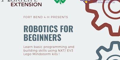 Fort Bend 4-H: Robotics for Beginners - Workshop #1