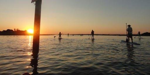 Sunset Sunday paddles at Baycats - Ocean city, NJ