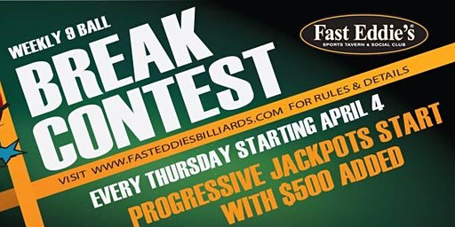 Thursday 9-Ball Break Contest!