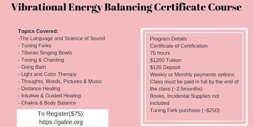 Vibrational Energy Balancing 1st Weekend