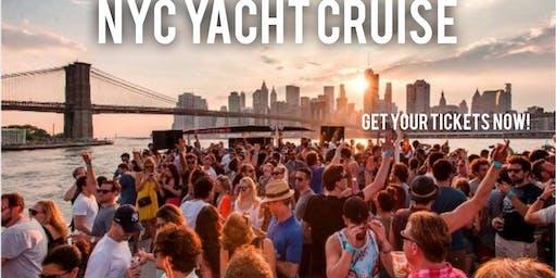 YACHT CRUISE  PARTY AROUND NEW YORK CITY | SKYLINE VIEWS COCKTAILS & MUSIC...Get NYC