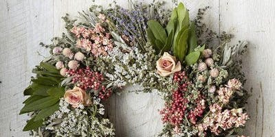 Copy of Dried Herb Harvest Wreath: A Luxe Wreath Making Workshop