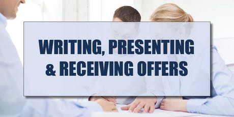 CB Bain | Writing, Presenting & Receiving Offers (3 CE-WA) | Yarrow Bay | Sept 18th 2019 tickets