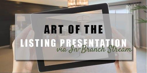 CB Bain | Art of the Listing Presentation (3 CE-WA) | In-Branch Stream | Sept 26th 2019