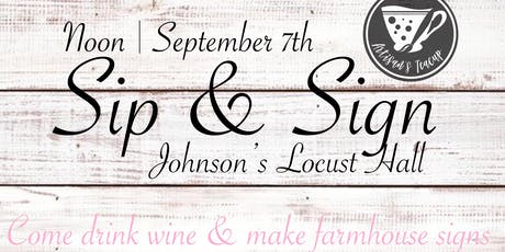 Sip & Sign tickets