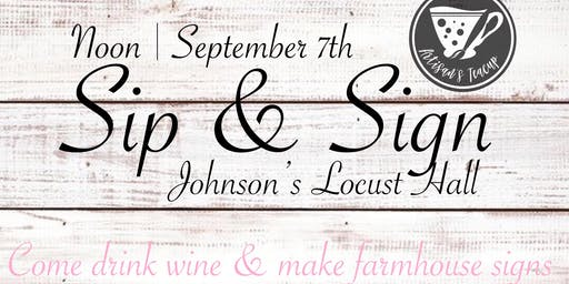 Sip & Sign
