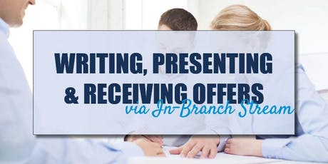 CB Bain | Writing, Presenting & Receiving Offers (3 CE-WA) | In-Branch Stream | Sept 18th 2019 tickets