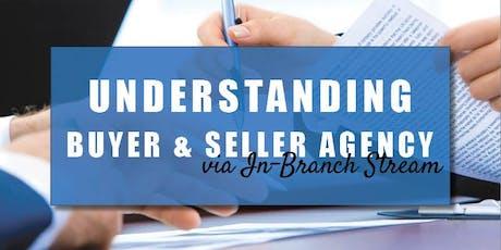 CB Bain | Understanding Buyer & Seller Agency (3 CE-WA) | In-Branch Stream | Oct 31st 2019 tickets