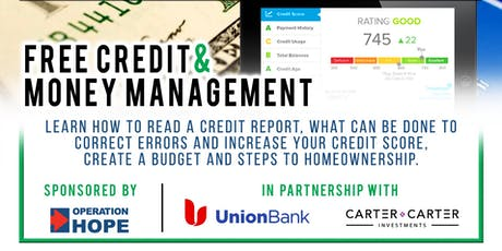 Free Credit & Money Management Workshop tickets