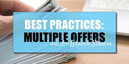CB Bain  | Best Practices: Multiple Offers (3 CE-WA) | In-Branch Stream | Sept 13th 2019